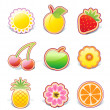 Fruity design elements — Stock Photo