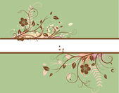 Banner decorativi floreali — Vettoriale Stock