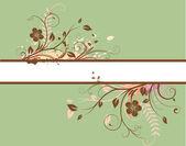Blommig dekorativa banner — Stockvektor