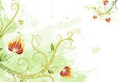 Floral abstrait — Vecteur