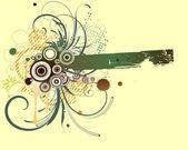 Grunge floral achtergrond — Stockvector