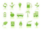 Conjunto de ícones de ecologia — Vetorial Stock