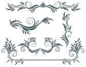 Elementos florales — Vector de stock