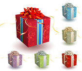 Cajas de regalo — Vector de stock