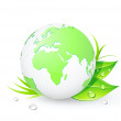 Stock Vector: Green globes