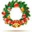 Christmas wreath — Stock Photo #7173711