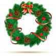 Christmas green wreath — Stock Photo #7174149