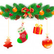 Christmas decorative composition — Stock Photo