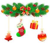 Composición decorativa de la Navidad — Foto de Stock