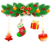 Christmas decorative composition — Stock Photo