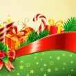 Christmas decorative background — Stok fotoğraf