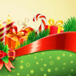 Christmas decorative background — Foto Stock