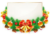 Christmas decorative frame — Stock Photo