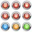 Round media player buttons — Stock Vector