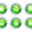 Green ecologe icons — Stock Vector #7272295