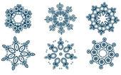 Set di fiocchi di neve — Vettoriale Stock