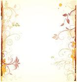 Blumen dekorativ hintergrund — Stockvektor