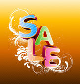Sale styled design — Stock Vector