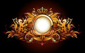Heraldic golden frame — Stock Vector