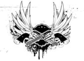 Grunge insignia — Stock Vector