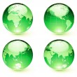 Glossy Earth Map Globes — Stock Vector #7381432