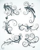 Elementi floreali — Vettoriale Stock