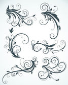 Floral elementen — Stockvector