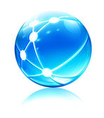 Network sphere icon — Stock Photo