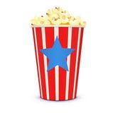 Classic cinema-style popcorn — Stock Vector