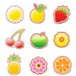 Royalty-Free Stock Vector Image: Fruity design elements