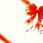 Gift bow and ribbon — Stock Vector