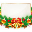 Christmas decorative frame — Stock Vector
