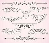 Decorative floral elements — Stock Vector