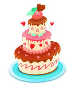 Cartoon cake — Stock Vector