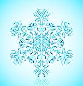 Crystal snowflake — Stock Vector