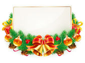 Christmas decorative frame — Cтоковый вектор