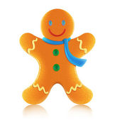Gingerbread man cookie — Stock Vector