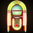 classic juke box — Stock Vector