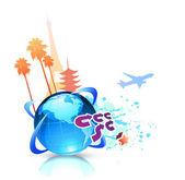 Summer travel background — Stock Vector