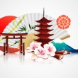 Decorative Traditional Japanese background — Stock Photo #7911796