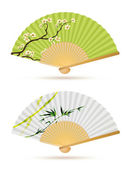 Two japanese folding fans — Stock Photo