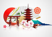 Decorative Traditional Japanese background — Stockfoto