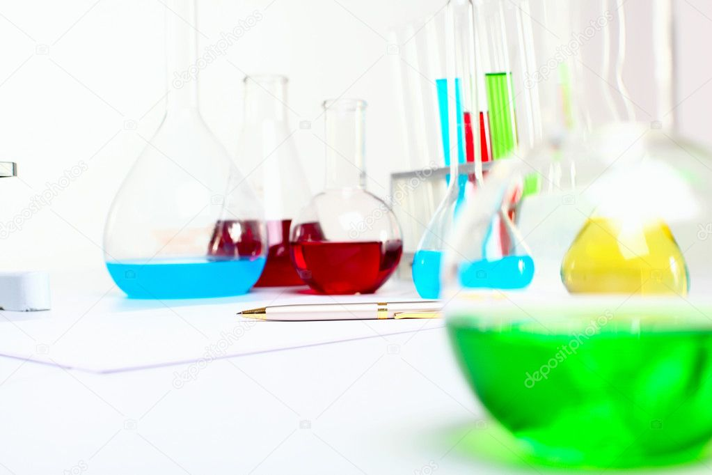 Image of chemistry or biology laborotary equipment   #6843848