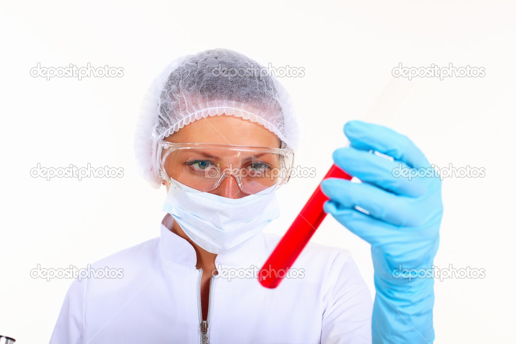 Young female scientist in a chemistry laboratory — Stock Photo #6844421