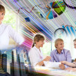 Stock Photo: Collage of business persons