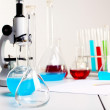 Stock Photo: Chemistry or biology laborotary equipment