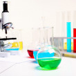 Chemistry or biology laborotary equipment — Stok fotoğraf