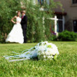 Suite bouquet in foreground — Foto de stock #6889165