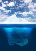 Smältande isberg — Stockfoto