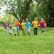 Group of children in the park — Stock Photo #6924684
